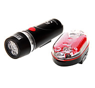 Super Bright LED 5 Farol e 3 LED Taillight BV bicicleta Set Luz