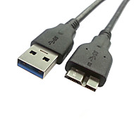 60cm USB 3.0 A Male to Micro B Male Data Chargerr Cable for Galaxy Note3 N9000 N900 Black