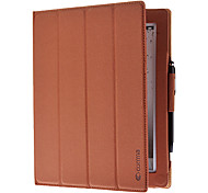 COMMA Four Folds Auto Sleep Full Body Case with Stand and Ball PenStylus for iPad 2/3/4 (Optional Colors)
