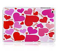 coeur rose motif dos en plastique cas pour l'ipad mini-3, Mini iPad 2, ipad mini-