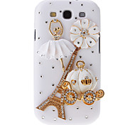 For Samsung Galaxy Case Rhinestone / Pattern Case Back Cover Case Eiffel Tower PC Samsung S3