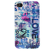 The Scrawl of Love Pattern PC Hard Case for iPhone 4/4S