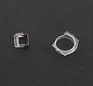 Cámara delantera Tapa plástica del anillo de sello del soporte para el iPhone 5