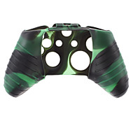 Silicone Skin Case for XBOX ONE (Green + Black)