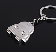 Personalized Engraved Gift Car Shaped Keychain with Rhinestone