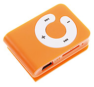 TF Card Reader MP3 Player Bag Shape with Clip Orange