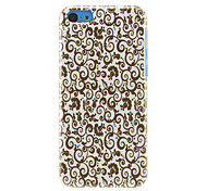 Golden Yellow Vines Pattern Hard Case for iPhone 5C