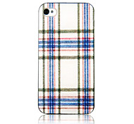 Original Gridding Pattern Transparent Frame Back Case for iPhone 4/4S