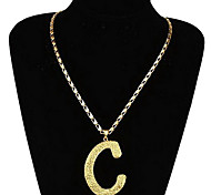 Fashion C Letter Pendant Necklace