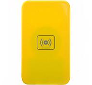 Qi Wireless Charger Yellow Pad ricarica con ricevitore nero per Samsung Galaxy Nota 2 N7100