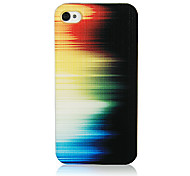 Original Colorful Light Pattern Transparent Frame Back Case for iPhone 4/4S