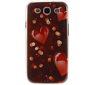 Романтические шаблон Сердце Пластиковый защитный Твердый переплет чехол для Samsung Galaxy S3 I9300