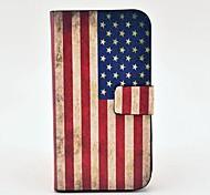 Retro-Amerika-Flaggen-Muster PU-Leder Tasche mit Magnetverschluss und Karten-Slot für Samsung Galaxy S3 I9300