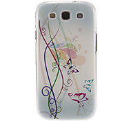 Colorful Flowers and Butterflies Pattern Plastic Protective Hard Back Case Cover for Samsung Galaxy S3 I9300