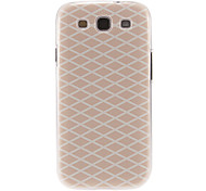 Pink Grids Pattern Plastic Protective Hard Back Case Cover for Samsung Galaxy S3 I9300