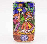 Dança Caso Pintura Padrão Oil Girl para Galaxy 3 I9300
