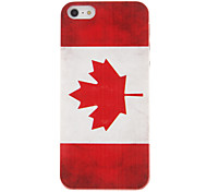 Canada Flag Pattern Back Cover for iPhone 5