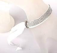 Quatre White Velvet Bracelet