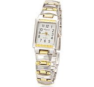 Women's Rectangle Dial Alloy Band Quartz Analog Wrist Watch Cool Watches Unique Watches Strap Watch