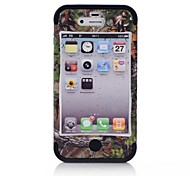 3 in 1 Tree Pattern Brown CAMO Phone Protector Case for iPhone4/4S