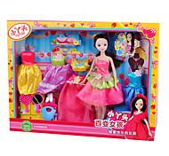 Multicolored Changeable Dresses Kurhn Doll Gift Box Set (4000-1 Pattern)