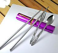 Extérieur 3 en 1 fourchette en acier Conception / inoxydable et une cuillère et baguettes pliables