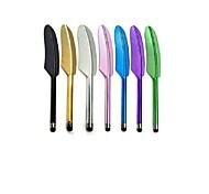 En alliage d'aluminium de modèle de plume d'oie écran tactile capacitif Stylet pour iPad, iPhone et autres (couleurs assorties)