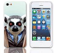Schöne Bradypode Muster Hülle mit 3-Pack-Display-Schutzfolien für das iPhone 5/5S