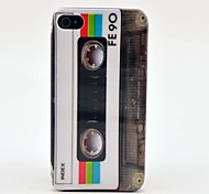 FE90 Cassette Tape Pattern Hard Case  for iPhone 4/4s