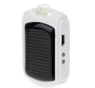 600mAh Solar Power Bank External Battery for Mobile Device White