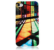 Colorful Glass Light Pattern Transparent Frame Back Case for iPhone 4/4S