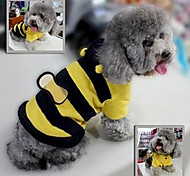 Cute Bee Jumpsuits with Hoodie for Pets Dogs