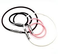 Saúde Cuidar Silicone & Titanium Necklace Poder Aço (mais cores) (1 Pc)