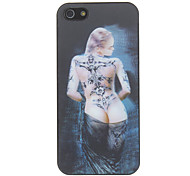 3D Tattoo Señora Patrón Hard Case para el iPhone 5/5S