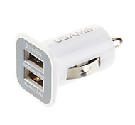 USAMS double 3.1A USB Mini chargeur de voiture pour iPhone / iPod / iPad 1/iPad 2 (Blanc)