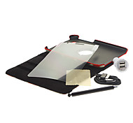UK Flag Rotating Pouches+Stylus Pen+HD Screen Film+USB Cable+Car Charger for Samsung Galaxy Tab2 P3100