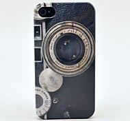 Retro Camera Style Pattern Hard Case  for iPhone 4/4s