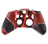 Silicone Skin Case and 2 Red Thumb Stick Grips for XBOX ONE (Red + Black)