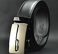 Men's Leisure  Genuine Leather Automatic Buckle Belt