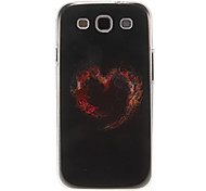 Black Red Heart Pattern Plastic Protective Hard Back Case Cover for Samsung Galaxy S3 I9300
