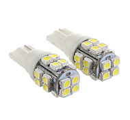 T10 20x3528SMD Cool White Light LED Bulb for Car (12V,2 pcs)