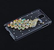 Kristall-Pfau-Diamant-schwerer Fall für Samsung Galaxy Hinweis 3