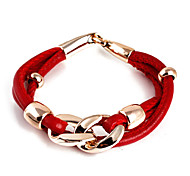 Fashion PU Leather Wrap Bracelet(Random Color)