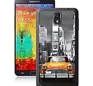 Yellow Car Pattern 3D Effect Case for Note 3