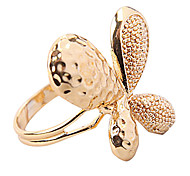 Golden Butterfly Band Ring