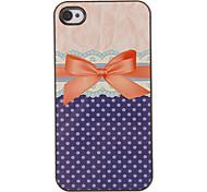 Graceful Bowknot Muster PC Hard Case mit 3 Lunch HD-Display-Schutzfolien für das iPhone 4/4S