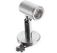 1W 110LM High Quality 2800-3300K Warm White Light LED Cabinet Light -Silver (AC 90-240V)