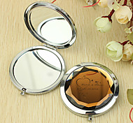Personalized Gift Heart Pattern Chrome Compact Mirror