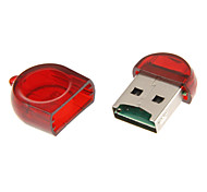 Mini USB Memory Card Reader (Yellow/Red)