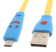 Micro USB 2.0 to USB 2.0 M/M Lighting Cable Yellow(1M)